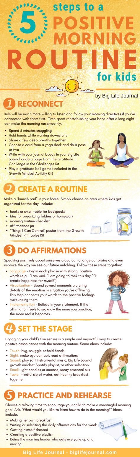 5 Steps to a Positive Morning Routine for Kids