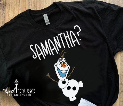 Samantha? Olaf Shirt, Cute Frozen Tee, Any Colo - Ladies Slouchy Vneck - S