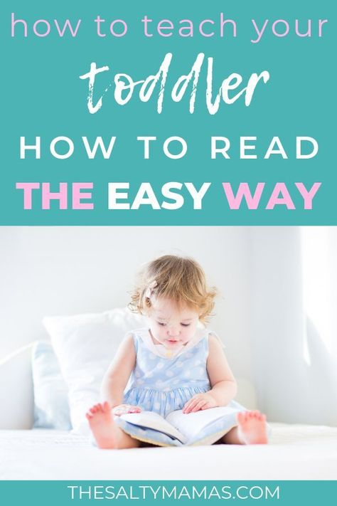 How to Teach Your Toddler (Or Preschooler!) To Read- The Salty Mamas