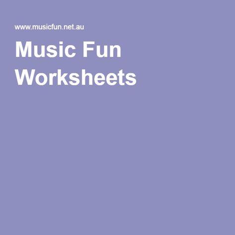 Music Fun Worksheets   Music Teaching things   Pinterest
