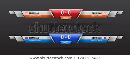 Sport Scoreboard Bars Or Lower Third Template With Time And Result