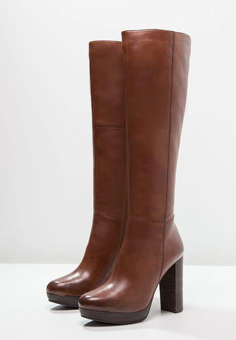 High Nano Stiefel Heel Cognac 354ALqRj
