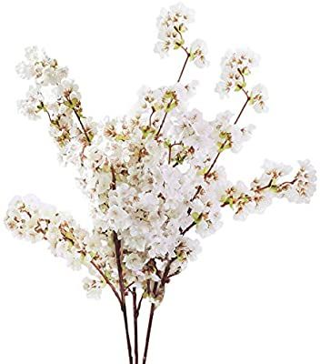 Amazon Com Sunm Boutique Silk Cherry Blossom Branches Artificial Cherry Blossom Tree Ste Artificial Cherry Blossom Tree Fake Flowers Fake Flower Arrangements