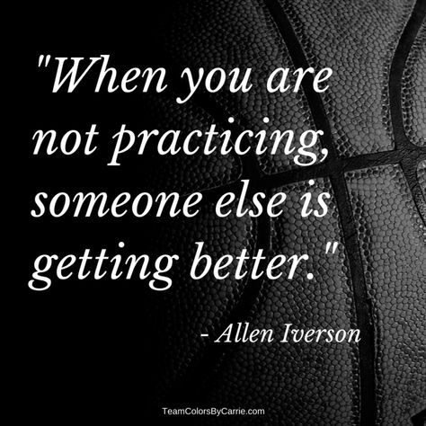 25 of the Greatest Basketball Quotes Ever : Practice makes perfect! Allen Iverson I love sports quotes, and thought you might like my list of 25 greatest basketball quotes all of all time! Cheerleading Quotes, Cheer Quotes, Volleyball Quotes, Sport Quotes, Great Sports Quotes, Famous Sports Quotes, Sports Sayings, Cheerleading Gifts, Sports Team Quotes