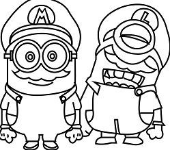 Minions Cosplay Mario World Capa Para Minion Coloring Pages Minions Coloring Pages Super Mario Coloring Pages
