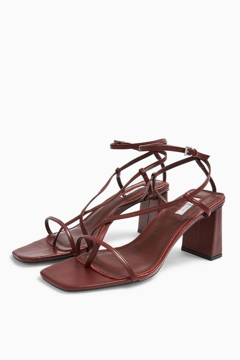 NICO Burgundy Set Back Heels | Topshop
