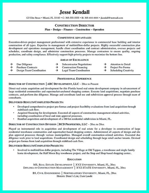 Construction Supervisor Resume Sample Best Templates Pinterest - computer repair sample resume
