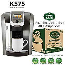 Keurig K575 Single Serve K Cup Pod Coffee Maker Platinum And