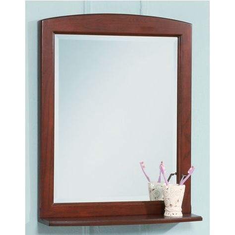 Bathroom Mirrors - Windsor Decorative Mirror with Shelf by Empire | KitchenSource.com