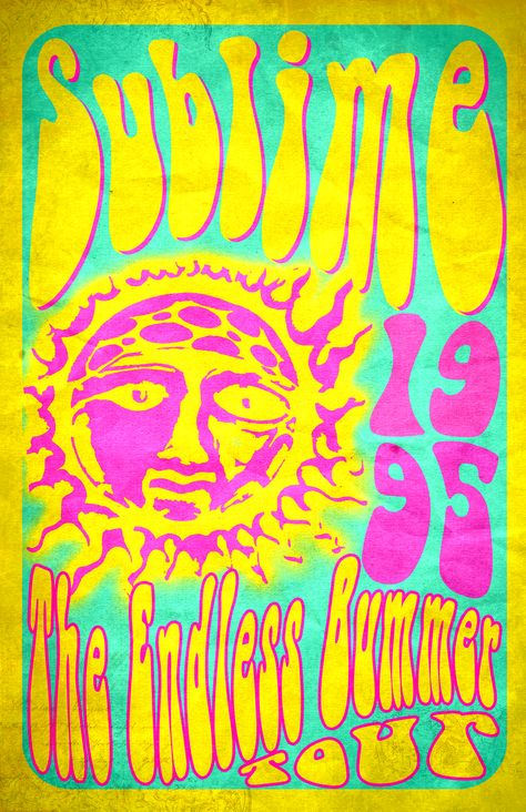 tour poster for Sublime Collage Mural, Bedroom Wall Collage, Art Mural, Photo Wall Collage, Picture Wall, Wall Art, Room Posters, Band Posters, Poster Wall