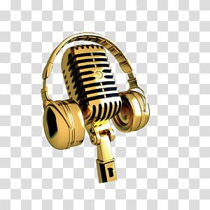 Gold Headphones And Microphone Microphone Golden Microphone Transparent Background Png Clipart Gold Headphones Transparent Background Microphone Icon