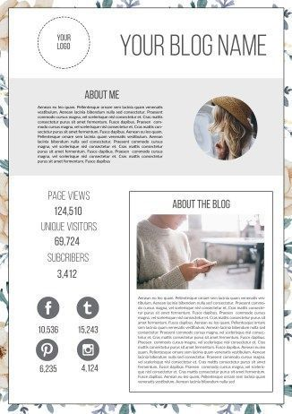 How to Design a Blogger\'s Media Kit (includes a free template ...