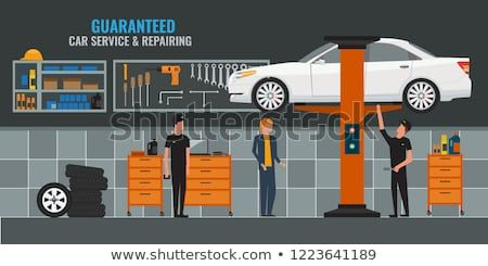 Https Www Shutterstock Com Image Vector Auto Repair Shop Interior Mechanics Masters 1223641189 Src Lcivnnpi Auto Repair Shop Shop Interior Shop Window Design