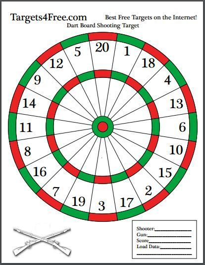 Dart Board Shooting Target Red And Green Custom Designed By Targets 4 Free Check It Out Shooting Targets Shooting Targets Paper Shooting Targets Dart