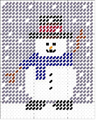 Ho Ho Ho Snowman Magnet Plastic Canvas Pattern Snowmen Christmas