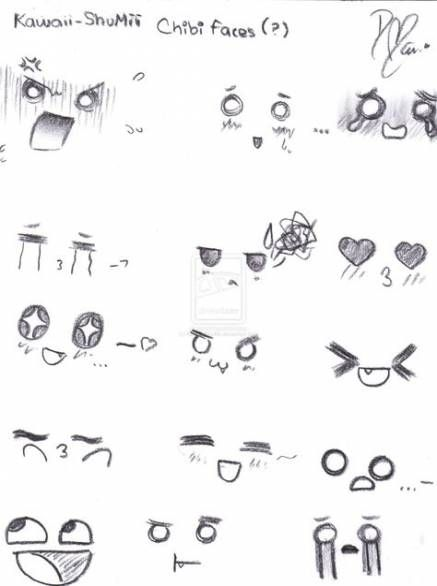How To Draw Cute Facial Expressions 46 Ideas Anime Face Drawing Anime Expressions Drawing Expressions