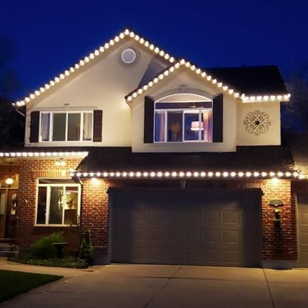 300 Kit Everlights Classic Permanent Warm White Led Christmas Lights Eave Lights Led Christmas Lights Christmas Lights Outside Christmas House Lights