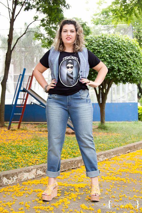MaGGníficas: Azulzinho: jeans, colete e bonequinha!