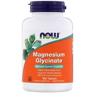 Now Foods Magnesium Glycinate 180 Tablets Magnesium Glycinate