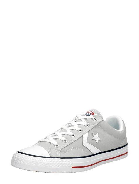 goede textuur order uitstekende kwaliteit Converse Star Player Ox lage heren sneakers - lichtgrijs ...