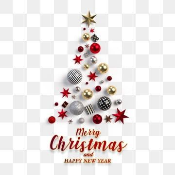 Christmas Tree With Red Stars And Golden Balls Merry Christmas Merry Christmas Clipart Christmas Card Red Png Transparent Clipart Image And Psd File For Free Merry Christmas Merry Christmas Card Design