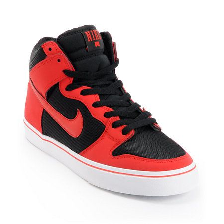 7c1fdc79200f8 Make stairs and rails bow before you with the Nike Dunk High LR skate shoes  in university red/black/red so you can start jumping 10-stairs and sliding  rails ...