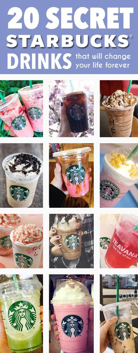 20 Secret Starbucks Menu Drinks That Will Change Your Life