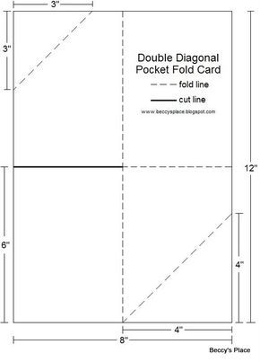 Diagonal Double Pocket Card With Tutorial Card Making Templates Folded Cards Cards