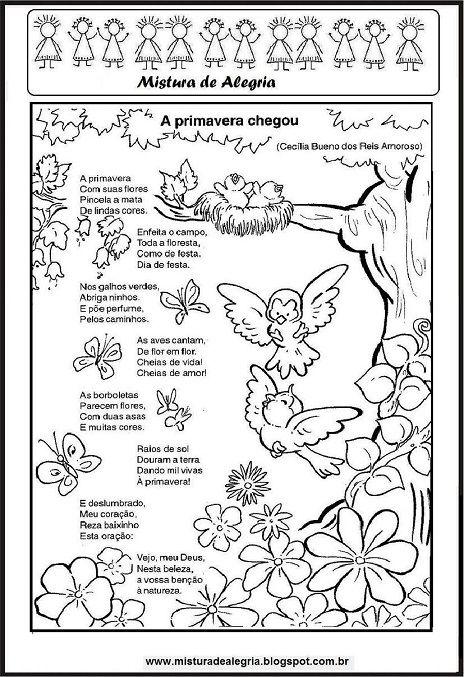 Poesia A Primavera Chegou Cecilia Meireles Primavera Imprimir