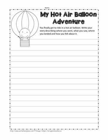 Hot Air Balloon Narrative Hot Air Paragraph Writing 2nd Grade