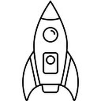 Simple Rocket Ship Clipart Black And White New Transport Icons 3 200 Files In Png Eps Svg Format Clipart Black And White Clip Art Elementary Art