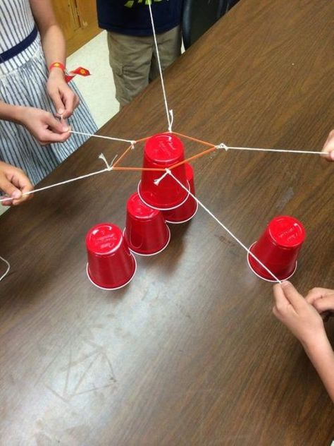 Stack the cups game with red solo cups. Creative Kids Party Games for your celebration. #stackthecups #redsolocup #stackingcupgame #games #backyardgames #outdoorgames #kidspartygames #partygames #party #partyideas #birthday #birthdaygames #birthdayideas #