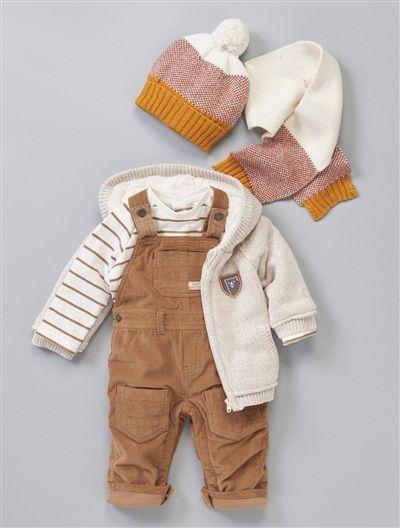 Vertbaudet Jungen Baby Sweat-Overall