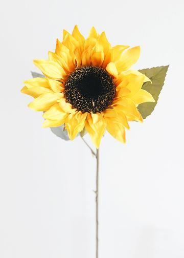 Yellow Orange Fake Sunflower Silk Flowers Fall Wedding Flowers Yellow Sunflower