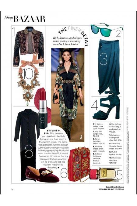 October - Harper's Bazaar 2014