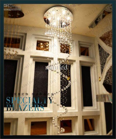 Kristall Kronleuchter Hängeleuchte Droplight Moderne Kronleuchter Foyer Eingang Flur Treppenhausbeleuchtung Von