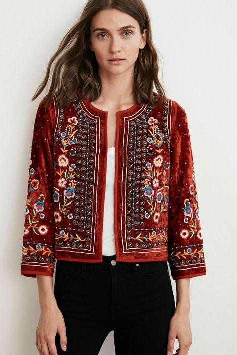 Embroidery Boho Style Fall Jacket