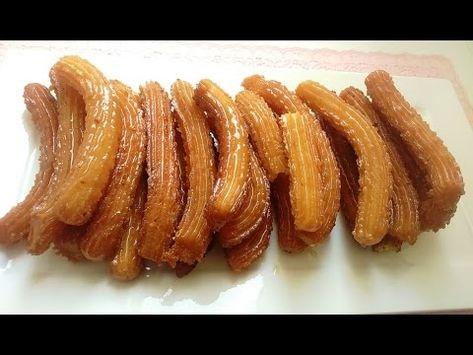 شباكية البوق زلابية طويلة رائعة لشهر رمضان Sweet Treats Breakfast Food