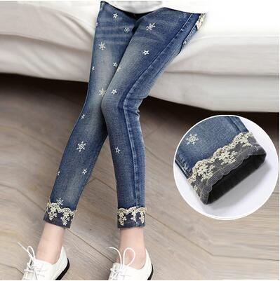 Tienda Online 2019 De Los Ninos De Otono Ropa Ninas Jeans Casual Slim Thin Denim Bebe Nina Pantalones Coser Pantalones De Mezclilla Pantalones Para Ninos Ropa