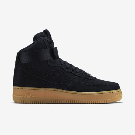 Nike Wmns Air Force 1 Hi Suede Black