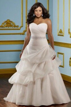 Plus Size Wedding Dress Gown For The Full Figured Or Curvy Woman Flattering And Slimming Layers