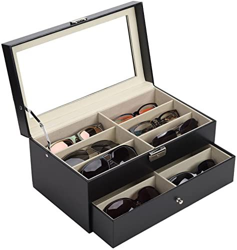 Enjoy Exclusive For Co Z Sunglasses Organizer Women Men Multiple Eyeglasses Eyewear Display Case Leather Multi Sunglasses Jewelry Collection Holder Drawer Su In 2020 Eyewear Display Sunglasses Organizer White Picture Frame Set