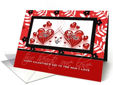 for gay partner on valentines day red hearts card