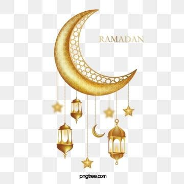 Ramadan Islam Golden Decoration With Moon Islamic Ramadan Muslim Png And Vector With Transparent Background For Free Download Star Lanterns Lanterns Decor Golden Pattern