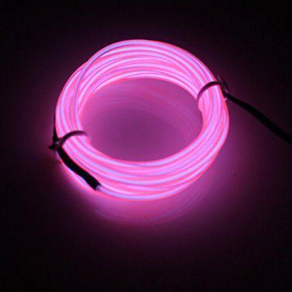 Lerway 5m El Wire Fil Neon Flexible Lumiere Led Cable Guirlande