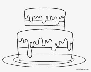 Birthday Cake Coloring Page Cupcake Coloring Pages