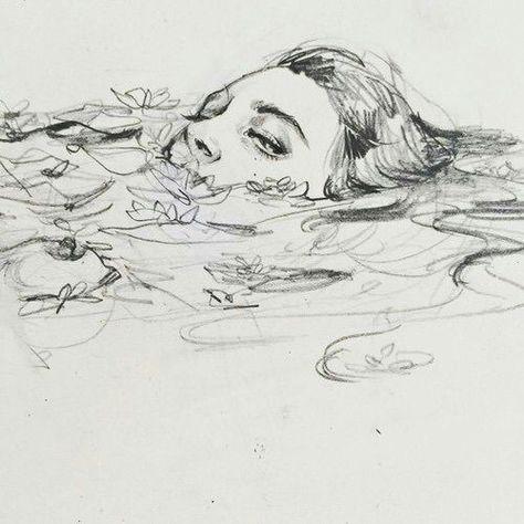 art inspo connie-lim: Ein kleines Gekritzel f - art Pencil Art Drawings, Art Drawings Sketches, Drawing Faces, Sketch Art, Sketch Ideas, Drawing Ideas, Drawings Of Stars, Artwork Drawings, Drawing Designs