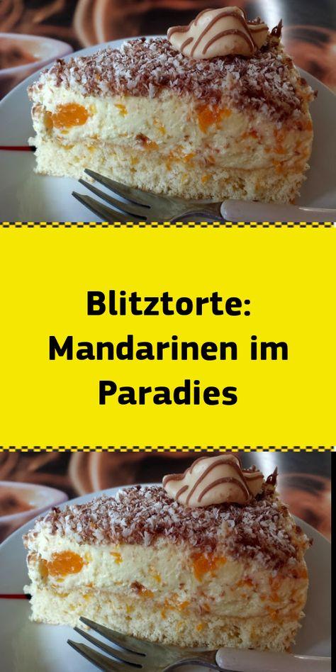 Blitztorte: Mandarinen im Paradies