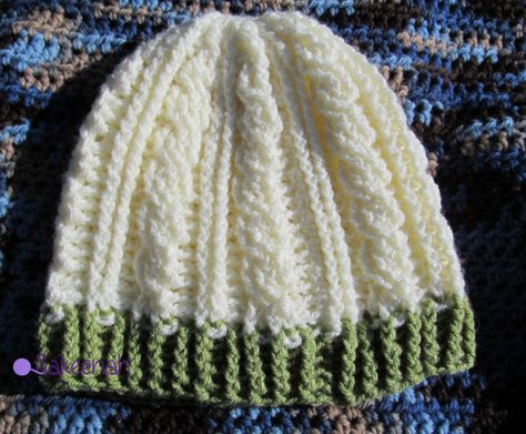 Crochet Cable Hat - link to free crochet pattern in post, from Sakeenah.com