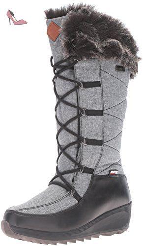 Kamik Snowvalley, Bottes de Neige de Hauteur Moyenne, Doublure Chaude Femme, Noir - Schwarz (BK2-BLACK), Taille 38